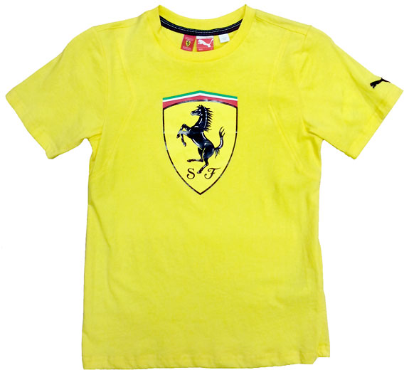 PUMA SCUDERIA FERRARI SHEILD SCUDETTO JUNIOR TEE - YELLOW