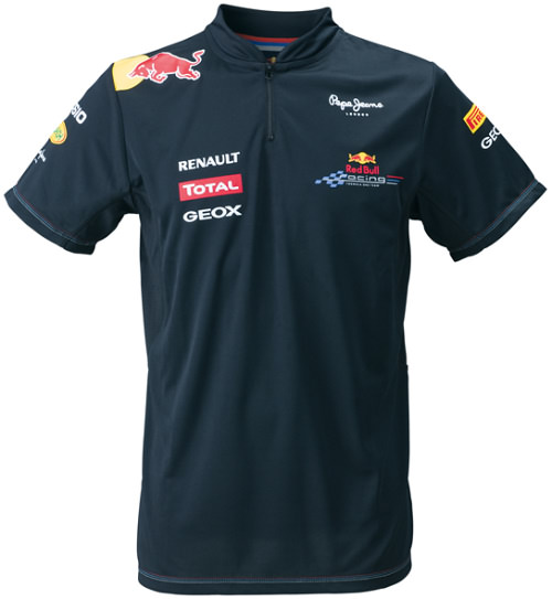 2011 RED BULL RACING TEAM FUNCTIONAL 1/4 ZIP T-SHIRT