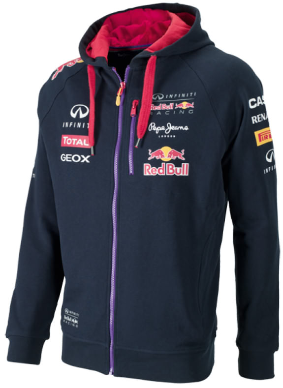 2014 INFINITI RED BULL RACING F1 TEAM CAPUCHON ZIPPÉ HOMME