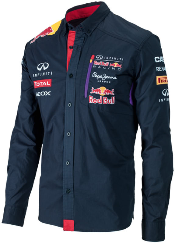 PEPE JEANS 2014 INFINITI RED BULL RACING F1 TEAM SHIRT - MEN
