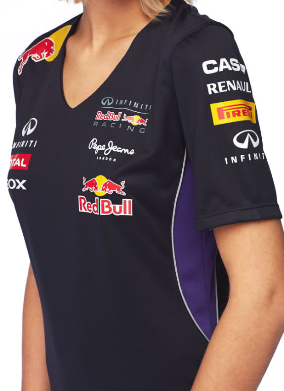 PEPE JEANS 2014 INFINITI RED BULL RACING F1 TEAM WOMEN VNECK T