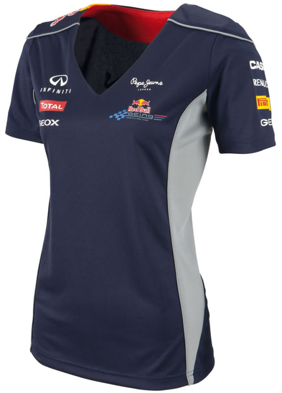 2013 INFINITI RED BULL RACING F1 TEAM FUNCTIONAL T-SHIRT - FEMME