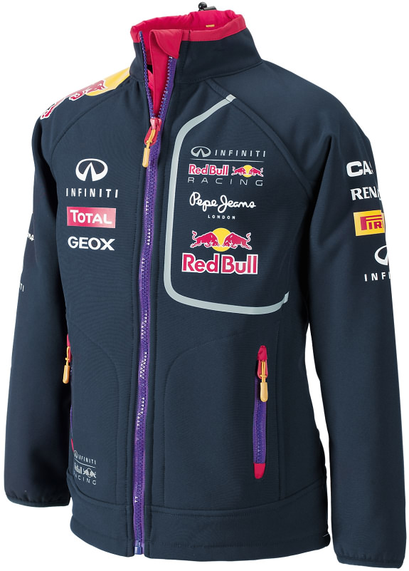 2014 INFINITI RED BULL RACING F1 TEAM SOFTSHELL KIDS JACKET