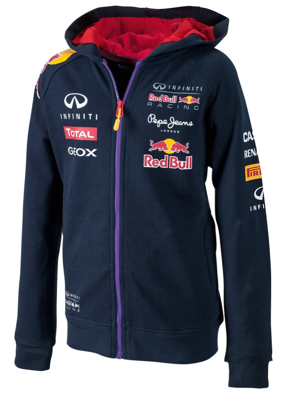 2014 INFINITI RED BULL RACING F1 TEAM KIDS HOODY JACKET