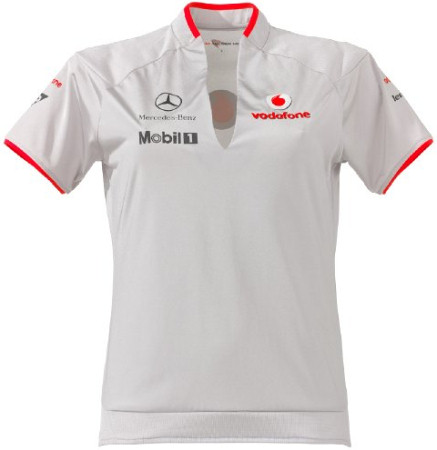 VODAFONE MCLAREN MERCEDES 2010 LADIES T-SHIRT – SILVER