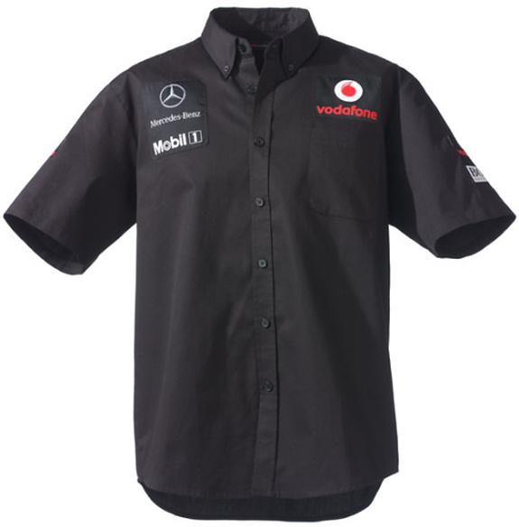 VODAFONE MCLAREN MERCEDES 2011 MENS SHIRT – BLACK