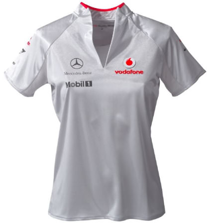 VODAFONE MCLAREN MERCEDES 2009 LADIES T-SHIRT – SILVER