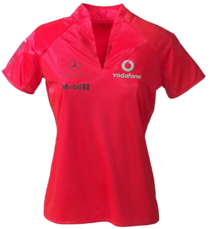 VODAFONE MCLAREN MERCEDES LADIES T-SHIRT – ROCKET RED