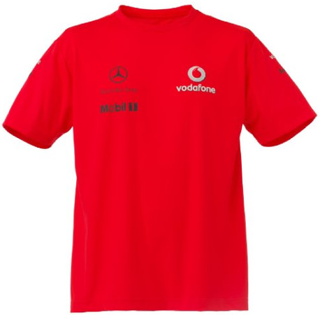 VODAFONE MCLAREN MERCEDES 2010 MENS T-SHIRT – ROCKET RED