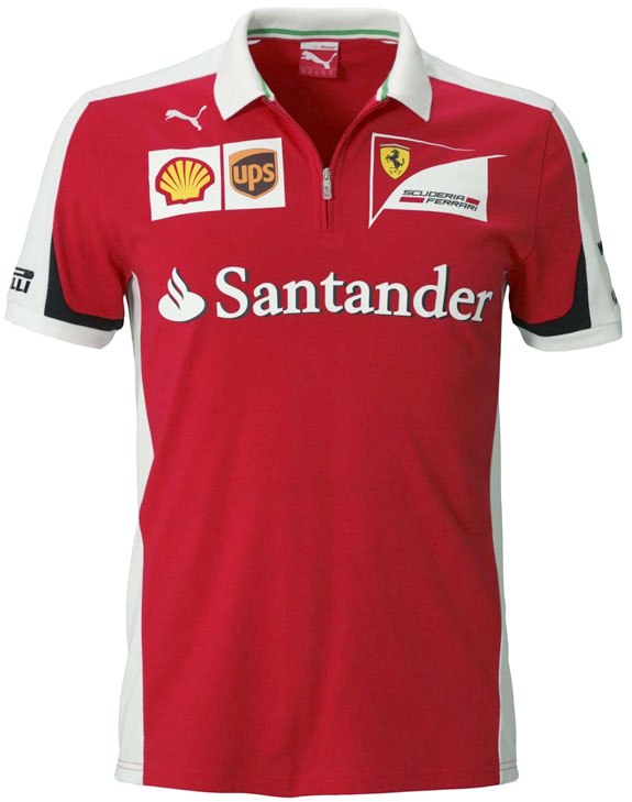 2015 PUMA SCUDERIA FERRARI TEAM ZIP POLO