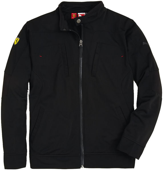 PUMA FERRARI JUNIOR TRACK JACKET - BLACK