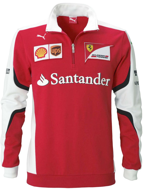 2015 PUMA SCUDERIA FERRARI TEAM 1/4 ZIP FLEECE