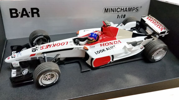 MINICHAMPS 1/18 2003 BAR HONDA 005 – JACQUES VILLENEUVE