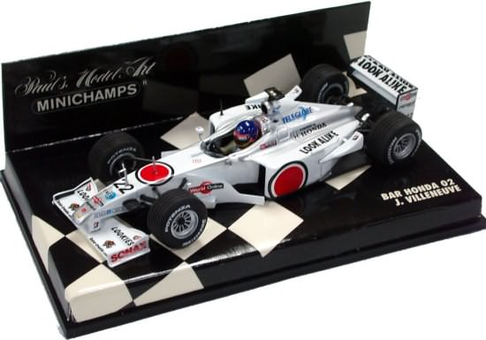 MINICHAMPS 1/43 2000 BAR MUGEN HONDA -02 – JACQUES VILLENEUVE