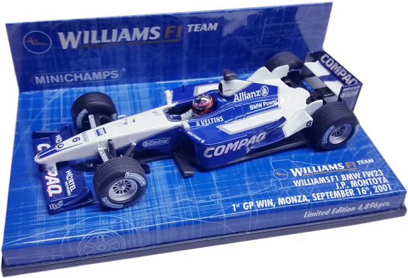 MINICHAMPS 1/43 2001 WILLIAMS FW23 1ST WIN – JUAN PABLO MONTOYA