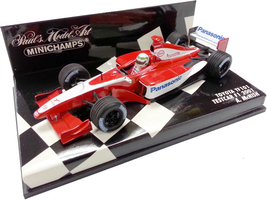MINICHAMPS 1/43 2001 TOYOTA TF101 TESTCAR - A. MCNISH