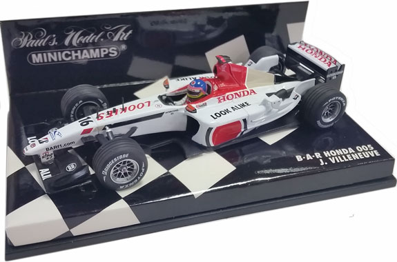 MINICHAMPS 1/43 2003 BAR HONDA 005 – JACQUES VILLENEUVE