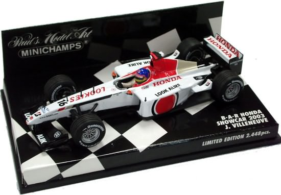 MINICHAMPS 1/43 2003 BAR HONDA SHOWCAR – JACQUES VILLENEUVE
