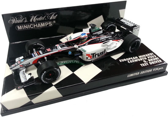 MINICHAMPS 1/43 EUROPEAN MINARDI PS03 TEST DRIVER – G. BRUNI