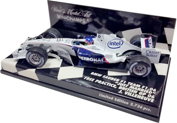MINICHAMPS 2006 BMW SAUBER F1 TEAM JUST MARRIED – J.VILLENEUVE