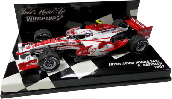 MINICHAMPS 1/43 2007 SUPER AGURI HONDA SA07 – ANTHONY DAVIDSON