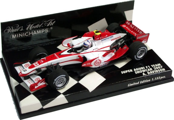 MINICHAMPS 1/43 2007 SUPER AGURI F1 TEAM SHOWCAR – A. DAVIDSON