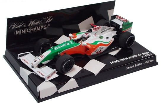 MINICHAMPS 1/43 2009 FORCE INDIA F1 TEAM SHOWCAR – ADRIAN SUTIL