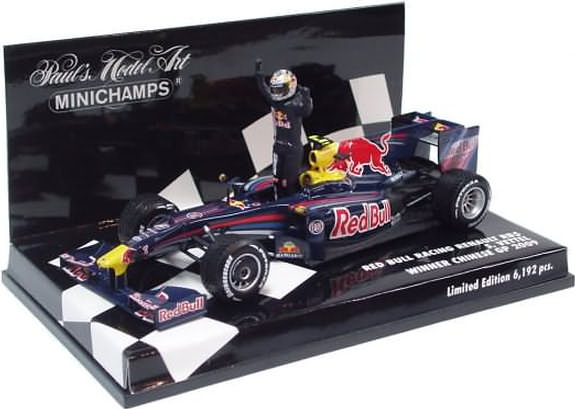 MINICHAMPS 1/43 2009 RED BULL RACING RB5 CHINA GP – S. VETTEL