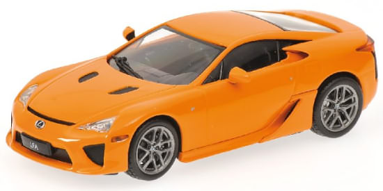 MINICHAMPS 1/43 2011 LEXUS LFA - ORANGE