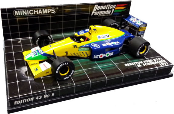 MINICHAMPS 1/43 1991 BENETTON FORD B191 – MICHAEL SCHUMACHER
