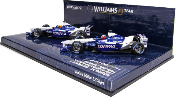 MINICHAMPS 1/43 2002 WILLIAMS BMW FW24 – MALAYSIAN GP