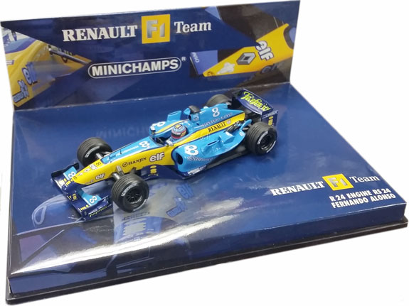 MINICHAMPS 1/43 2004 RENAULT F1 TEAM RS24 – FERNANDO ALONSO