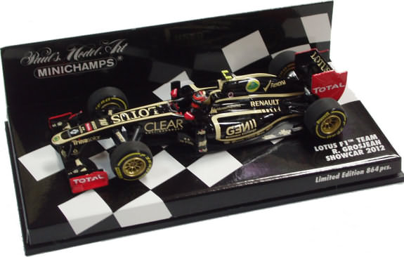 MINICHAMPS 2012 LOTUS RENAULT F1 TEAM SHOWCAR - ROMAIN GROSJEAN