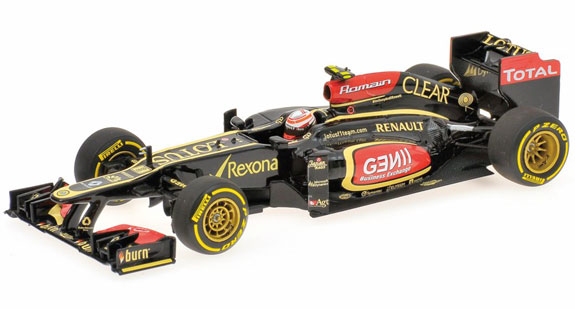 MINICHAMPS 1/43 2013 LOTUS F1 RENAULT SHOWCAR - ROMAIN GROSJEAN