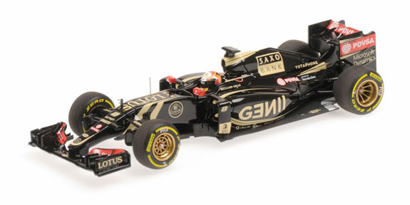 MINICHAMPS 1/43 2015 LOTUS F1 TEAM MERCEDES E23 ROMAIN GROSJEAN