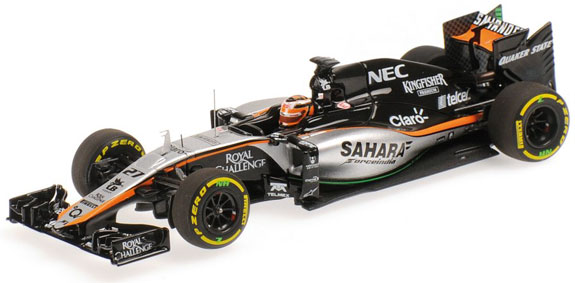 MINICHAMPS 1/43 2015 SAHARA FORCE INDIA VJM08 - NICO HÜLKENBERG