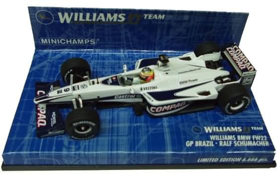 2000 WILLIAMS BMW FW22 GP BRAZIL – R. SCHUMACHER