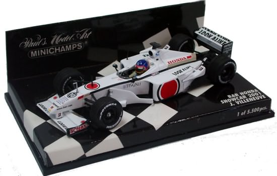 MINICHAMPS 1/43 2001 BAR HONDA SHOWCAR – JACQUES VILLENEUVE