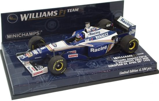 MINICHAMPS 1/43 1996 WILLIAMS FW18 1ST WIN – J. VILLENEUVE