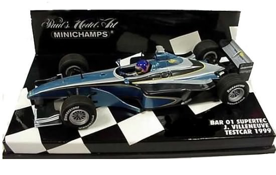MINICHAMPS 1/43 1999 BAR 01 SUPERTEC TESTCAR – J. VILLENEUVE