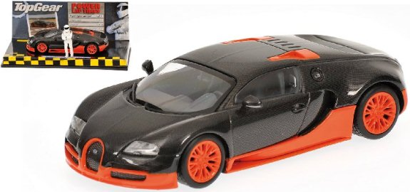 MINICHAMPS 1/43 BUGATTI VEYRON SUPERSPORT TOP GEAR - CARBON