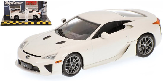 MINICHAMPS 1/43 TOP GEAR 2010 LEXUS LFA - WHITE