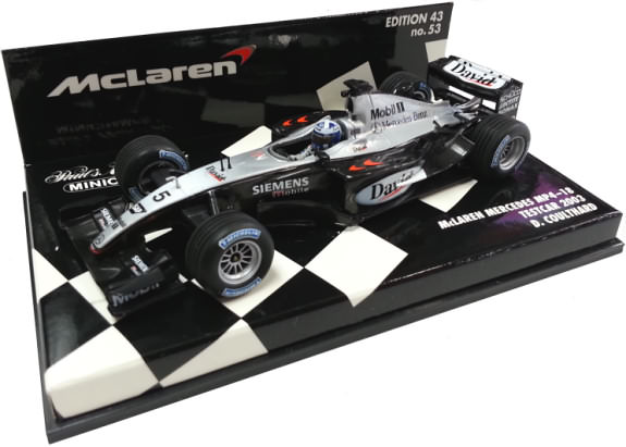 MINICHAMPS 1/43 2003 MCLAREN MERCEDES MP4-18 - DAVID COULTHARD
