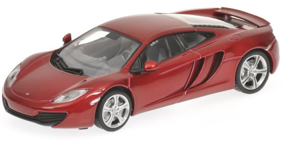 MINICHAMPS 1/43 2011 MCLAREN MP4-12C - RED METALIC