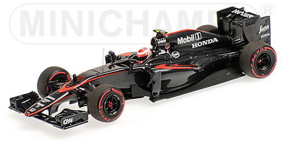 MINICHAMPS 1/43 2015 MCLAREN MP4-30 SPANISH GP - JENSON BUTTON