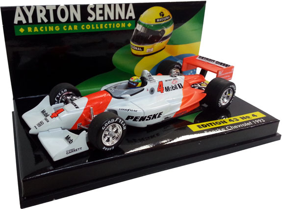 MINICHAMPS 1/43 1993 PENSKE INDY TEST CAR - AYRTON SENNA