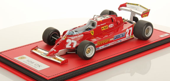 MR COLLECTION 1/18 FERRARI 126CK LONG BEACH - GILLES VILLENEUVE