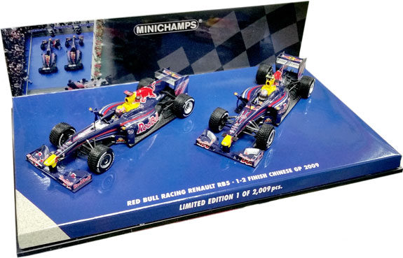 MINICHAMPS 1/43 2009 RED BULL RACING RB5 - CHINA GP 1-2 FINISH