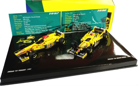 MINICHAMPS 1/43 1997 1998 JORDAN F1 GRAND PRIX BOX SET