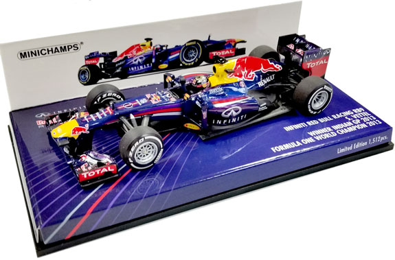 MINICHAMPS 1/43 2013 RED BULL F1 RB9 INDIA GP - SEBASTIEN VETTEL